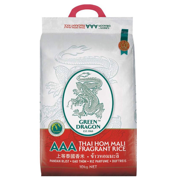 Green Dragon Thai Fragrant Rice AAA 10kg - Asian Online Superstore UK