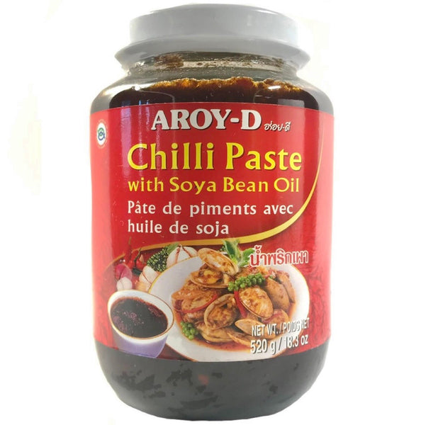 Aroy-D Chilli Paste with Soya Bean Oil 520g