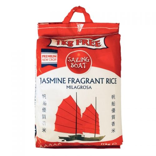 Sailing Boat Jasmine Fragrant Rice 10kg + 1kg free - Asian Online Superstore UK