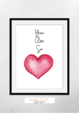 Watercolour -Pink - You Are So Loved - Set of 3- Nursery Prints - Krafty Hands Designs