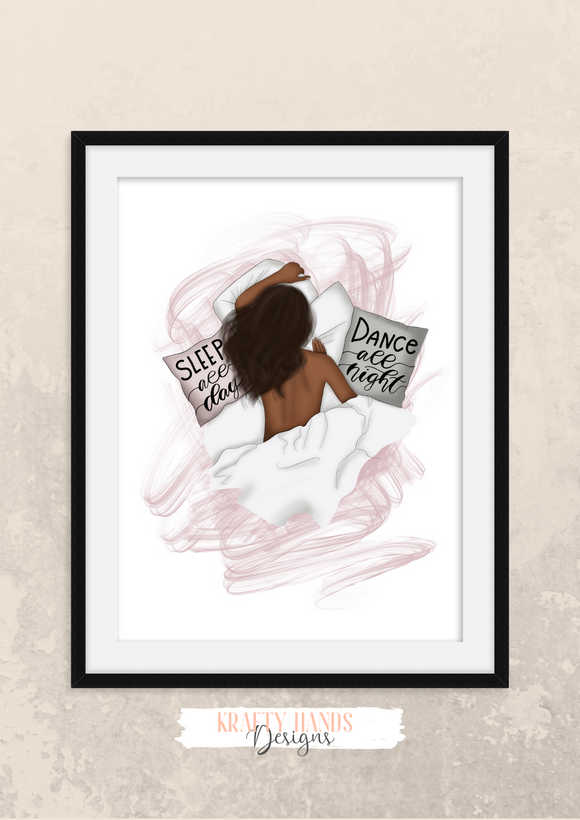 Dance All Night - Girl Boss Series - Home Print - Krafty Hands Designs