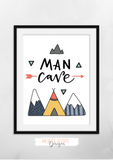 Man Cave - Print - Krafty Hands Designs