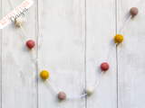 Felt Ball Garland - Spring Sunrise - Krafty Hands Designs