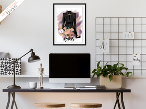 Like A Boss - Girl Boss Series - Home / Office Print - Krafty Hands Designs