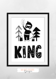 Scandinavian - King - Nursery Print - Krafty Hands Designs