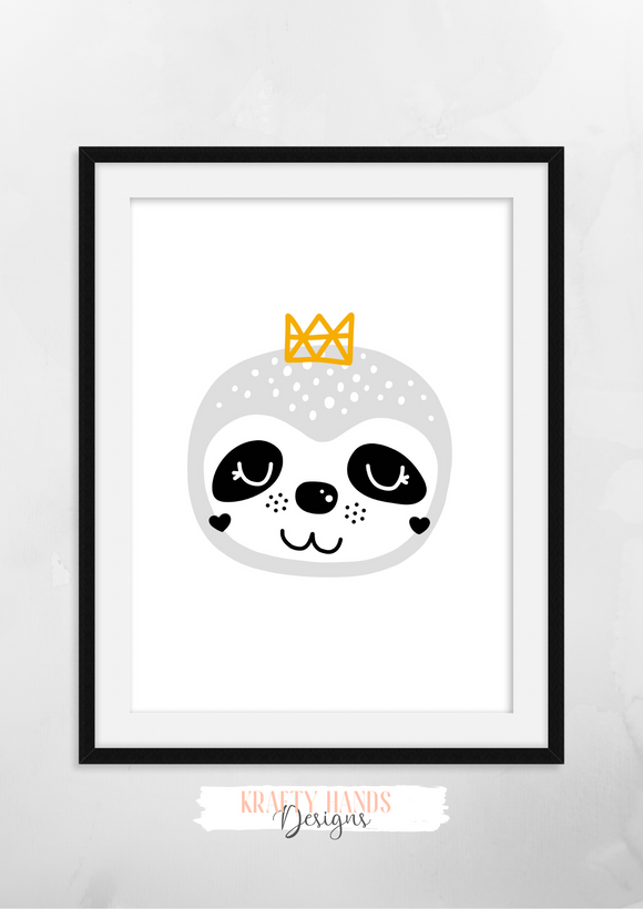 Scandinavian Animal - Nursery Print - Krafty Hands Designs