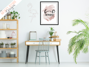Good Morning - Eyelashes- Home Print - Krafty Hands Designs