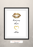 Kiss the pain away and fill your heart with hope  - Home - Print - Krafty Hands Designs