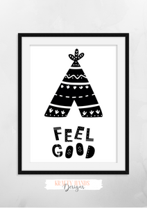 Scandinavian - Feel Good - Nursery Print - Krafty Hands Designs