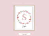 Ballerina Initial - Set of 3- Nursery Print - Krafty Hands Designs