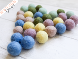 Felt Ball Garland - Pastel Me Happy - Krafty Hands Designs
