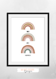 Hope Love and Happiness - Rainbow - Nursery Print - Krafty Hands Designs