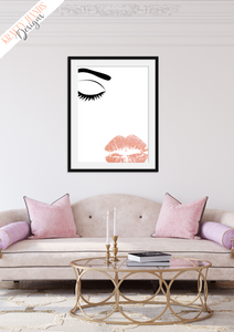 Beauty - lashes and lips  - Home - Print - Krafty Hands Designs