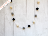 Felt Ball Garland - Original Scandinavian - Krafty Hands Designs
