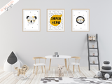 Scandinavian - Super Hero - Set of 3- Nursery Prints - Krafty Hands Designs