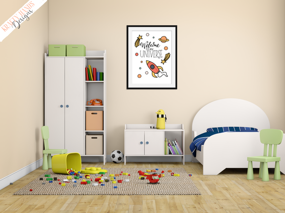Universe - Nursery Print - Krafty Hands Designs