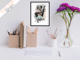 Fashion - Girl Boss Series - Home / Office Print - Krafty Hands Designs