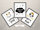 Scandinavian - Dream Big- Nursery Print - Krafty Hands Designs