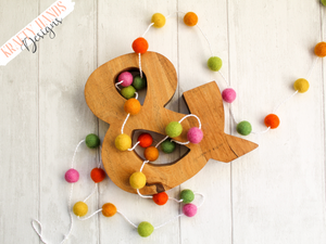 Felt Ball Garland - Spring Time - Krafty Hands Designs
