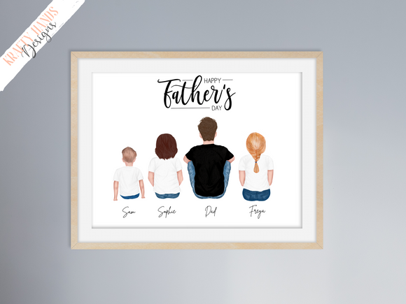 Father's Day - Family Sitting Print