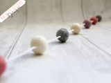 Felt Ball Garland - Soft Pink - Krafty Hands Designs