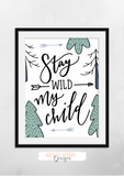 Cool Kid Series - Stay Wild - Set of 3 - Krafty Hands Designs