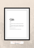 Personalised - Gin - Definitions - Home Print - Krafty Hands Designs