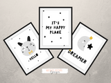 Scandinavian -My Happy Place- Nursery Print - Krafty Hands Designs