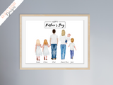 Fathers Day - Family Standing Print