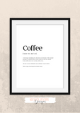 Personalised - Coffee - Definitions - Home Print - Krafty Hands Designs