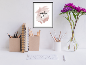 Pink Hashtag - Home / Office Print - Krafty Hands Designs