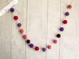 Felt Ball Garland - Purple Rays - Krafty Hands Designs