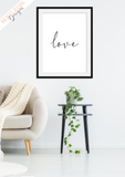 Love - Home Print - Krafty Hands Designs