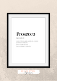 Personalised - Prosecco - Definitions - Home Print - Krafty Hands Designs