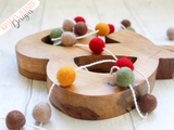 Felt Ball Garland - Autumn Hue - Krafty Hands Designs