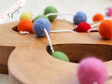 Felt Ball Garland - Colourful Summer - Krafty Hands Designs