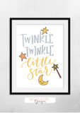 Twinkle Little Star - Print - Krafty Hands Designs