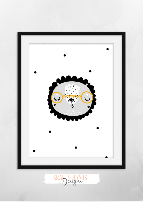 Scandinavian Animal- Nursery Print - Krafty Hands Designs