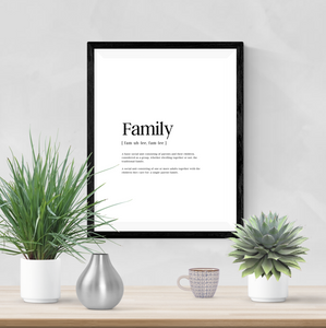 Personalised - Family - Definitions - Home Print - Krafty Hands Designs