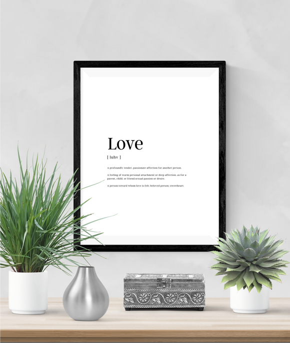 Personalised - Love - Definitions - Home Print - Krafty Hands Designs
