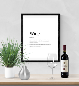 Personalised - Wine - Definitions - Home Print - Krafty Hands Designs