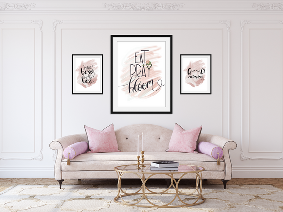 Eat Pray Bloom- Home Print - Krafty Hands Designs