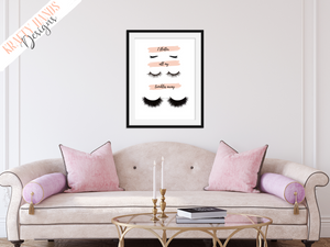 Flutter all my troubles away - Lashes  - Home - Print - Krafty Hands Designs