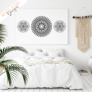 Mandala 5 - Vinyl Wall Decal - Krafty Hands Designs