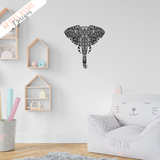 Elephant - Zentangle - Vinyl Wall Decal - Krafty Hands Designs