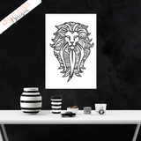 Lion - Zentangle - Vinyl Wall Decal - Krafty Hands Designs