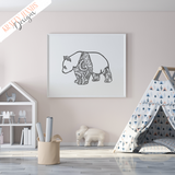 Panda – Zentangle – Vinyl Wall Decal - Krafty Hands Designs