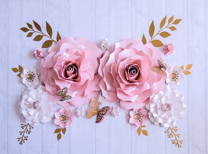 Elegant Paper Flower Set | Large Paper Flower Set