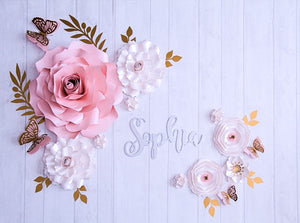Elegant Paper Flower Set | Medium Paper Flower Set