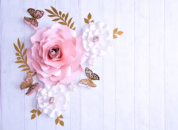 Elegant Paper Flower Set | Small Paper Flower Set